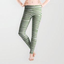 Abstract Stripes, Sage Green, Boho Wall Art Leggings