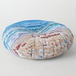 Ocean Waves of Love Floor Pillow