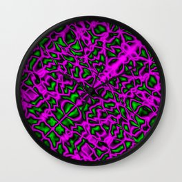Bacteriological symmetry of clear pattern of pink veins and outlined droplets in the meat. Wall Clock