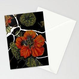 modern nasturtium Stationery Cards
