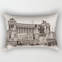 Altar of the Fatherland, Rome Rectangular Pillow