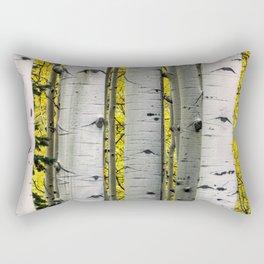 Into the Aspen Woods Rectangular Pillow
