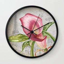 Macro Flower #4 Wall Clock