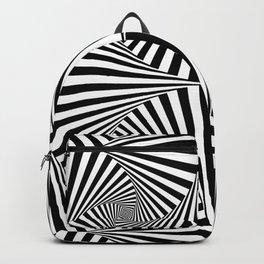 Black And White Retro Optical Illusion Backpack