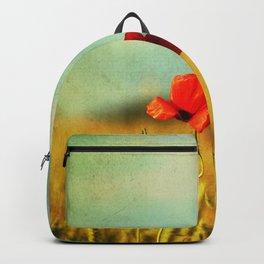 Poppy in a grain field Backpack
