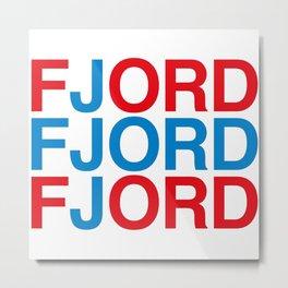 FJORD Metal Print