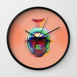 LSD Kiss Wall Clock