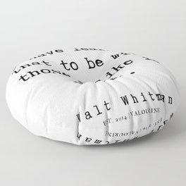 3     | Walt Whitman Quotes | 190803 Floor Pillow