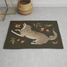 The Wolf and Rose Hips Rug