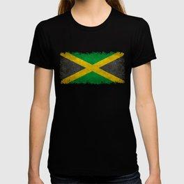 Jamaican flag, Vintage retro style T-shirt