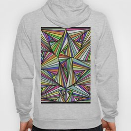 Multi Colored Line Drawing Illusion Hoody