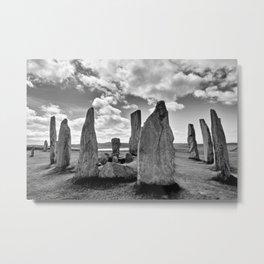 Stone Circle Callanish Stones Metal Print