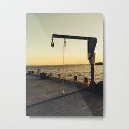 Natant Wharf Metal Print
