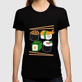 Sushi Kawaii Maki Nigiri Rice Japanese Food T-shirt