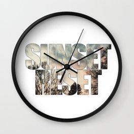 Sunset Reset - Inspirational Graphic Design Wall Clock