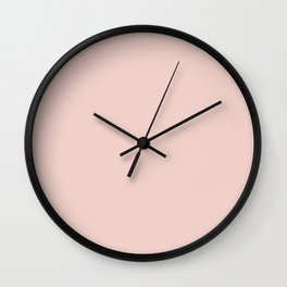 Plain Pastel Pink Color Background Wall Clock