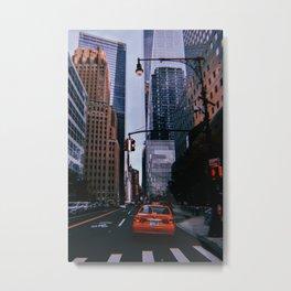 New York City // Retro 33 Metal Print