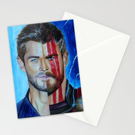 Chris Ragnarok Hemsworth Stationery Cards