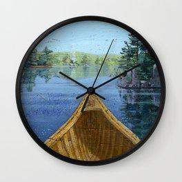 canoe bow Wall Clock