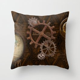 Comforts of Steampunk Throw Pillow