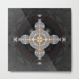 Transcendence Cross Sacred Geometry Meditation Art Metal Print