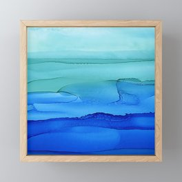 Alcohol Ink Seascape Framed Mini Art Print