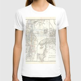 Old 1865 Historic State of Palestine Map T-shirt