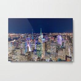 New York City Skyline Night Metal Print
