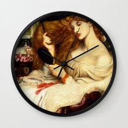 """Dante Gabriel Rossetti """"Lady Lilith"""" Wall Clock"""