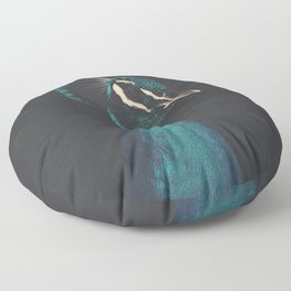 peacock and proud Floor Pillow
