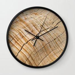Weathered Wood Grain Wall Clock