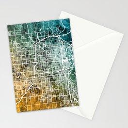 Omaha Nebraska City Map Stationery Cards