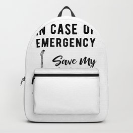 Save My Guitars First Funny Bass Guitarist Backpack