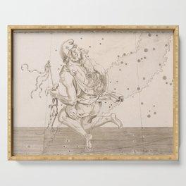 Johann Bayer - Uranometria / Measuring the Heavens (1661) - 12 Auriga Serving Tray