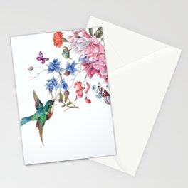 bird on flower Stationery Cards