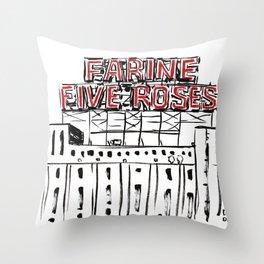 Five Roses Throw Pillow
