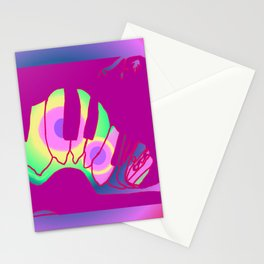 Transformation awaits, colorful caterpillar Stationery Cards