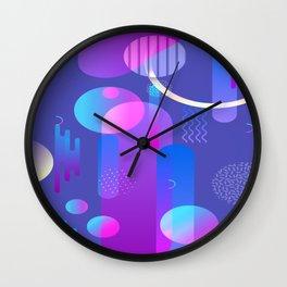 Purple Galaxy Type Abstract Design Wall Clock