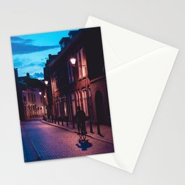Pink & Blue Street | Evening Collection | Calm | Street photography Stationery Cards