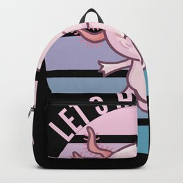 Kawaii Axolotl Ace - Let's have Cake Backpack