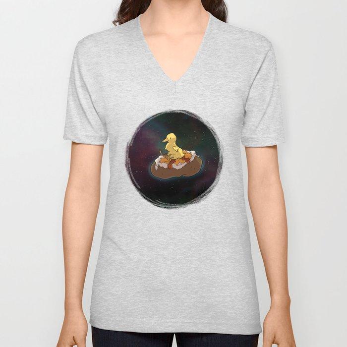 Space Duck Unisex V-Neck