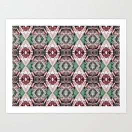 Poolside Garden - Organic Abstract Repeating Pattern Art Print