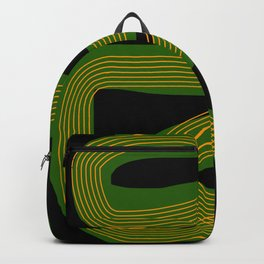 Green line abstract Backpack