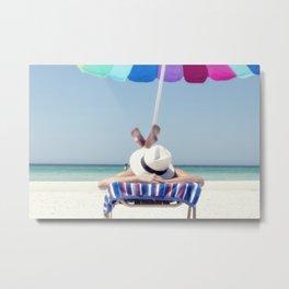 Holidays on the beach Metal Print