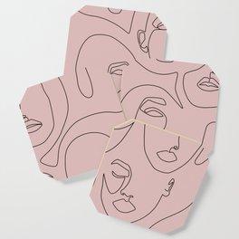 Blush Faces Coaster