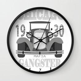 1930s Car Gangster Mob Chicago Mafia Gift Wall Clock