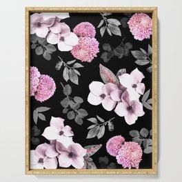 Night bloom - pink blush Serving Tray