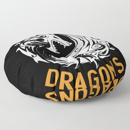 Mother Of Dragons imaginative passionate Floor Pillow