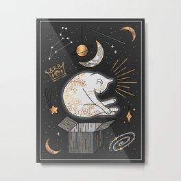 Ruler Of The Universe - Dreaming Cat Metal Print