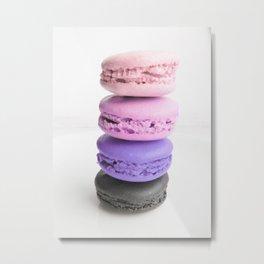 macaroon tower Pink Lavender Slate Metal Print